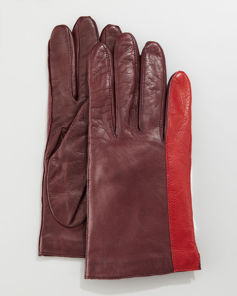 Turn an essential Winter must have into a style statement with these Diane von Furstenberg colorblock leather gloves ($138, originally $185).