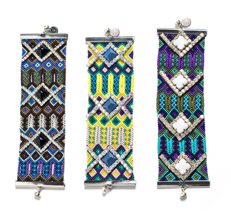 Take your friendship status to a new level with one of these Gypsies + Debutantes Extra Wide Friendship Bracelets ($98 each). Check out the intricate beading and woven detail.