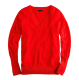 Nothing oozes luxury more than cashmere. This J.Crew Collection red v-neck sweater ($140, originally $188) would be a timeless addition to anyone's closet.
