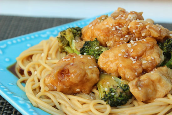 Broccoli: Sesame Chicken