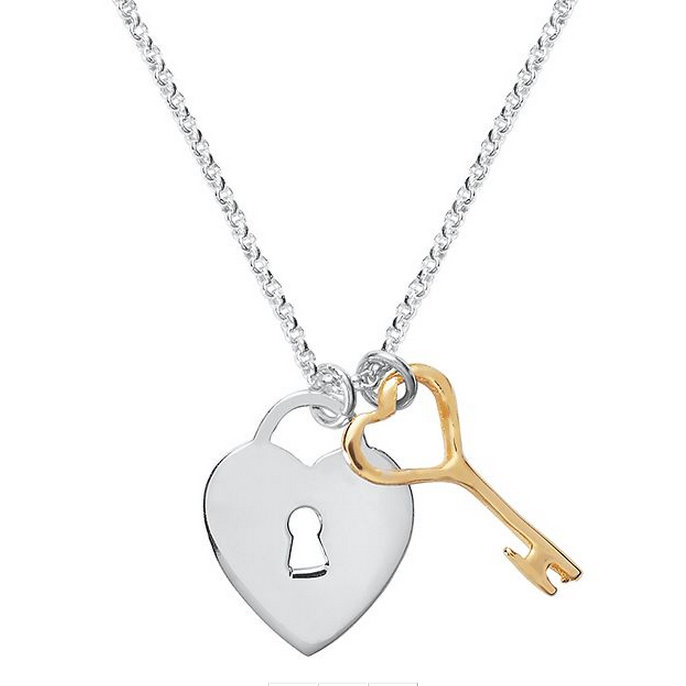 Like a grownup version of the locket, this heart locket and key necklace ($120) would go with anything.