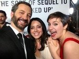 Judd Apatow found Aubrey Plaza and Lena Dunham at the premiere of This s 40. Source: Twitter user JuddApatow