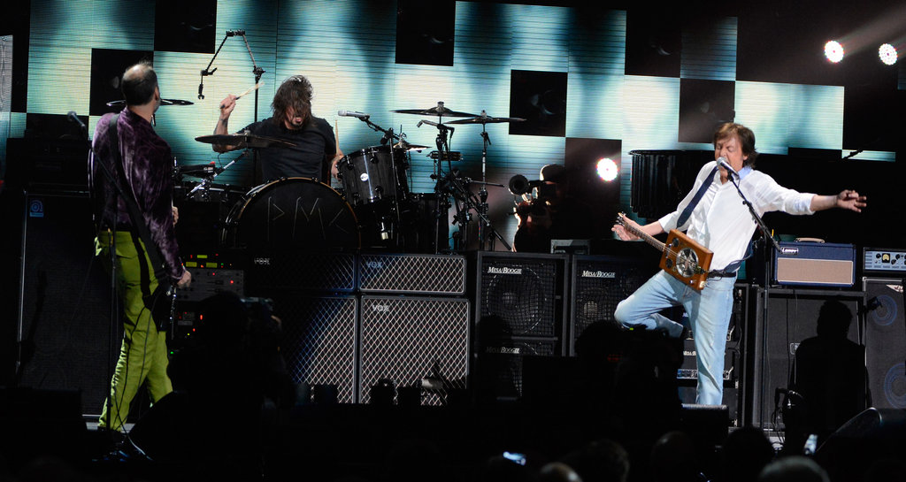 Paul and Nirvana Play the 12/12/12 Show With Kanye, Chris and More Stars
