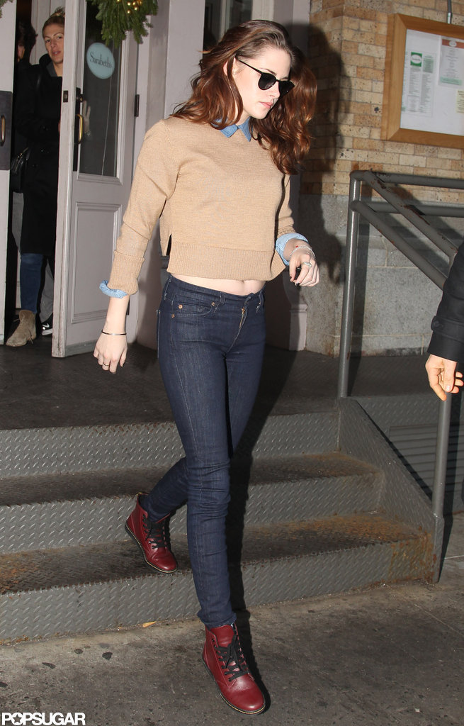 Kristen Stewart dined at Sarabeth's in NYC.