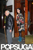 Katy Perry and John Mayer took John's father to dinner at Sardi's.