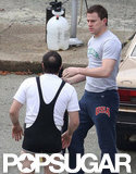 Channing Tatum was on the Foxcatcher set.