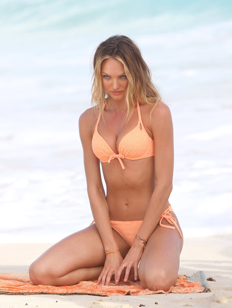 Candice Swanepoel posed in a Victoria's Secret bikini.