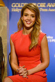Jessica Alba attended the Golden Globe Awards Nominations in LA.