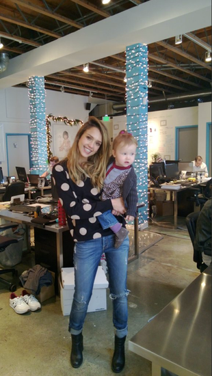 Jessica Alba had a visit from lil Haven at the Honest Company offices this week. Source: Skyline Live User Jessica Marie