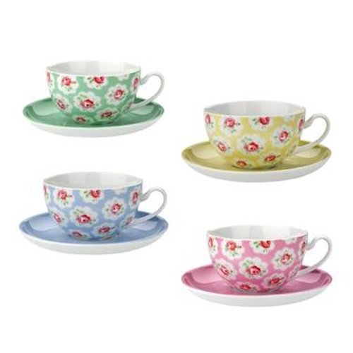 No British tea party would be complete without something from Cath Kidston. These Provence Rose Teacups and Saucers ($42) have an English cottage vibe that's offset with vibrant hues.