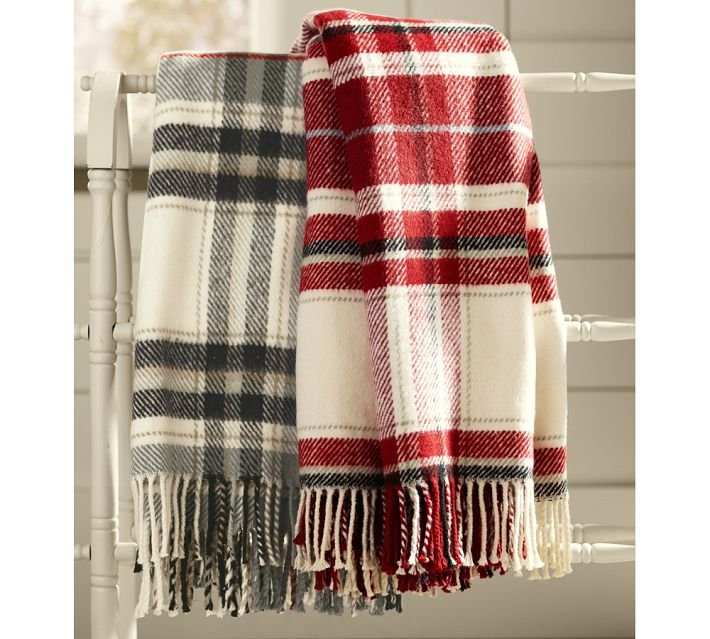 This classic plaid throw ($79, originally $99) is the perfect cozy addition to her wintry decor.