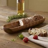 The indentations on this wooden French bread tray ($29) allow for even cutting. Pair it with a fresh loaf and gourmet olive oil for a tasty treat the whole family can enjoy.