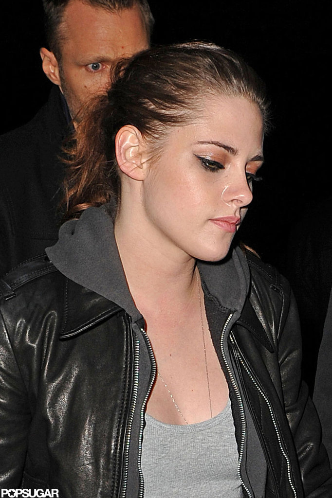 Kristen Stewart grabbed dinner at Abe & Arthur's.
