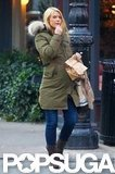 Claire Danes wore a Canada Goose parka in NYC.