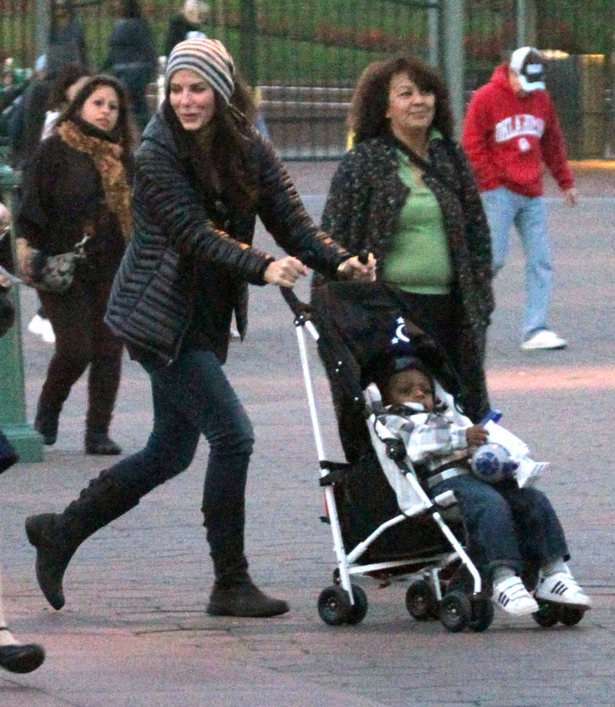 Sandra Bullock gave Louis a ride around Disneyland.