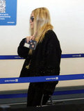 Ashley Olsen walked through the airport in LA.