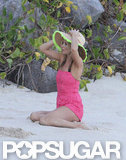 Kate Moss Shows Skin on the Beach For a St. Barts Photo Shoot