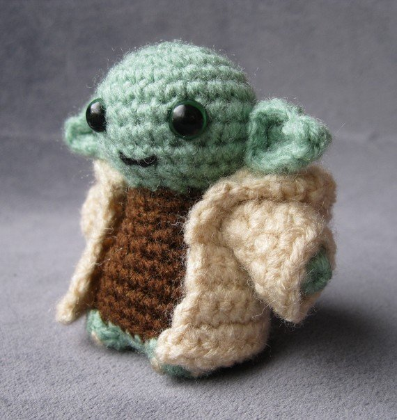 This Yoda bears not a stern eyebrow, but a smile. You can't purchase the Yoda pattern individually, but you can in a pair of any two patterns ($7).