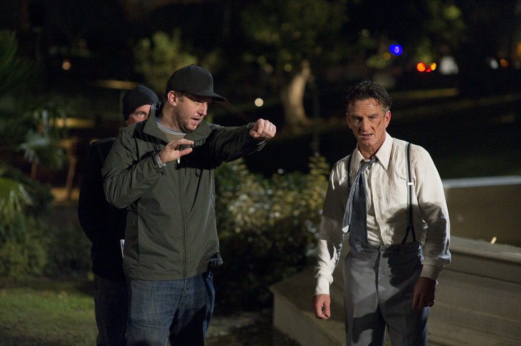 Director Ruben Fleischer and Sean Penn in Gangster Squad.