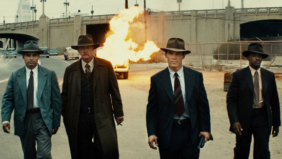 Michael Peña, Robert Patrick, Josh Brolin, and Anthony Mackie in Gangster Squad.