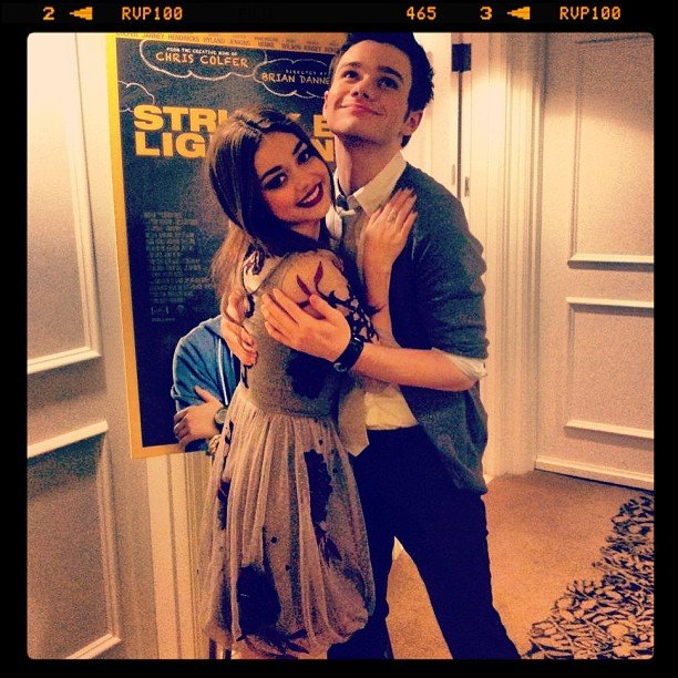 Sarah Hyland found costar Chris Colfer at an event for the film Struck by Lightning, which Colfer wrote. Source: Instagram user therealsarahhyland
