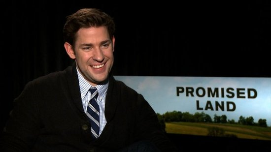 "John Krasinski Says That Working With Matt Damon on Promised Land Was ""Surreal"""