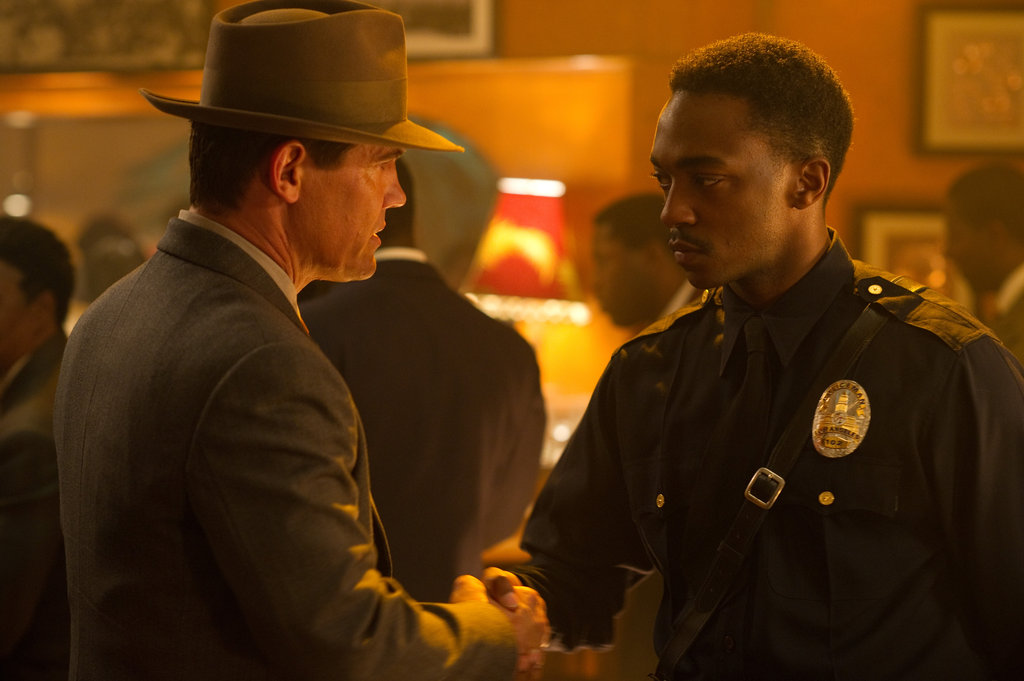 Josh Brolin and Anthony Mackie in Gangster Squad.