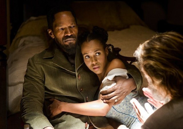 Jamie Foxx and Kerry Washington in Django Unchained. Photos courtesy of The Weinstein Co.