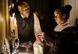 Samuel L. Jackson and Kerry Washington in Django Unchained. Photos courtesy of The Weinstein Co.