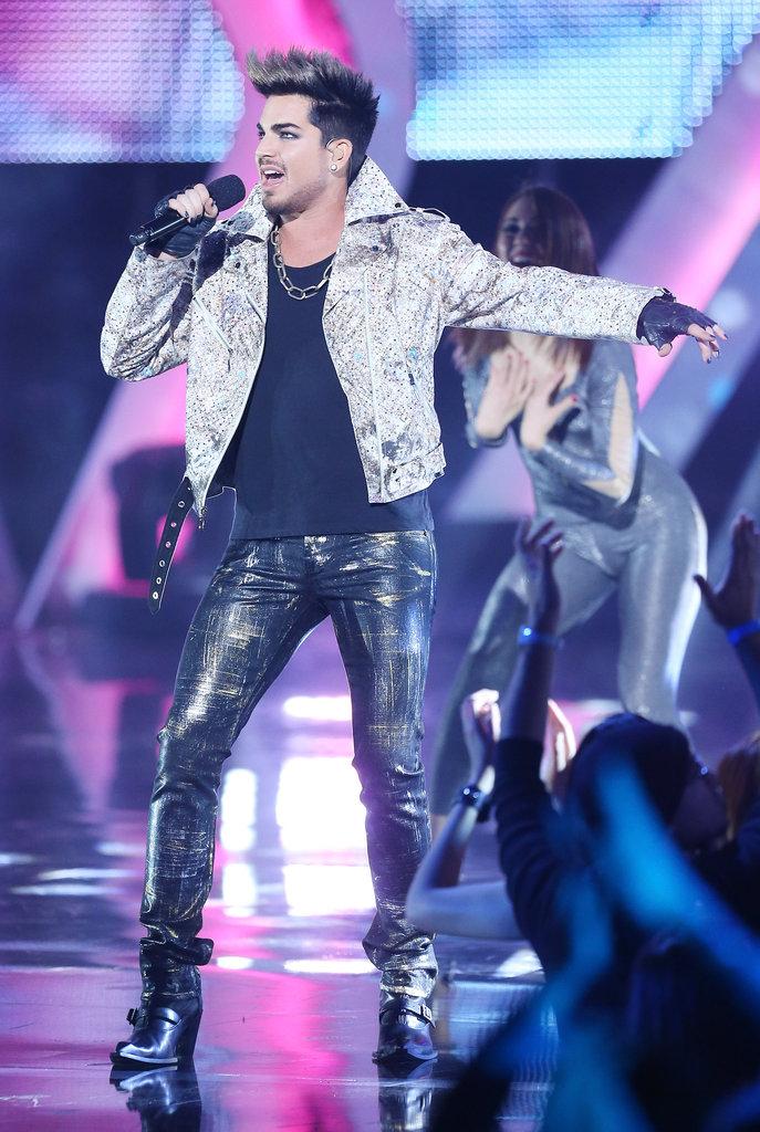 Adam Lambert performed at the event.