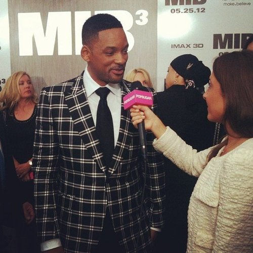 Will Smith, looking oh-so dapper in a plaid jacket, chatted with us at the NYC premiere of Men in Black 3.