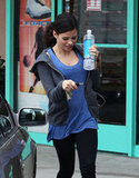 Pregnant Jenna Dewan wore workout clothes to the gym in LA.
