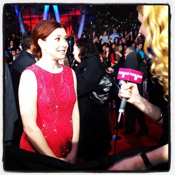 How I Met Your Mother's Alyson Hannigan chatted with us on the red carpet at the People's Choice Awards.