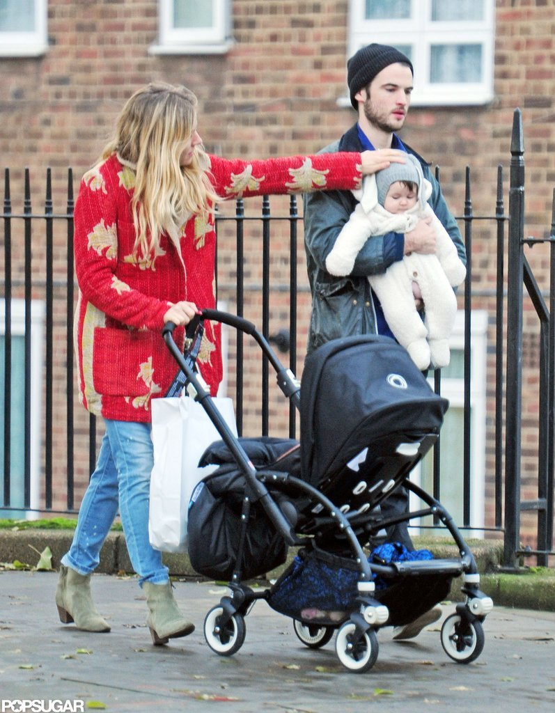 Sienna Miller and Tom Sturridge shopped in London with daughter Marlowe Sturridge.