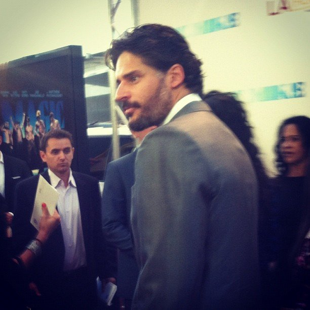 It was hard to see Joe Manganiello leave the Magic Mike red carpet, but we loved to watch him walk away!