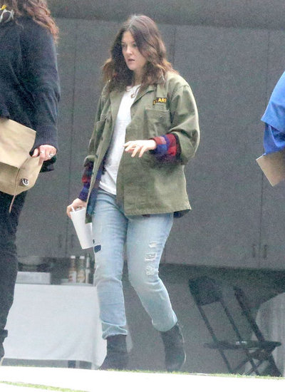 Drew Barrymore visited a studio in LA yesterday.
