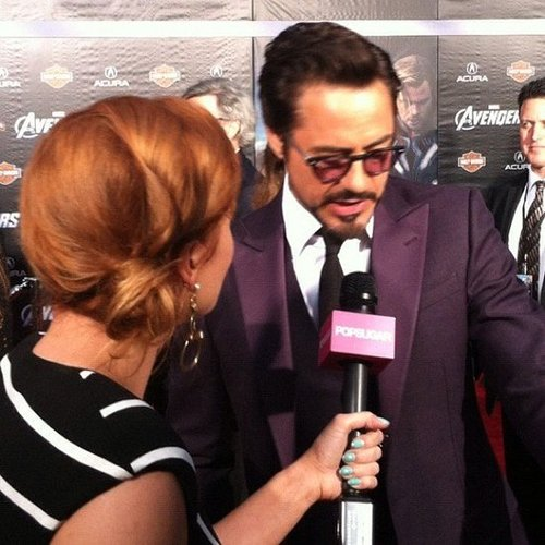 Robert Downey Jr. walked the red carpet for The Avengers with his wife just a few weeks after they welcomed their son!