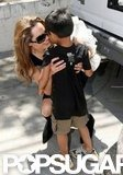 In April 2007, Angelina Jolie shared a sweet moment with Maddox in LA.