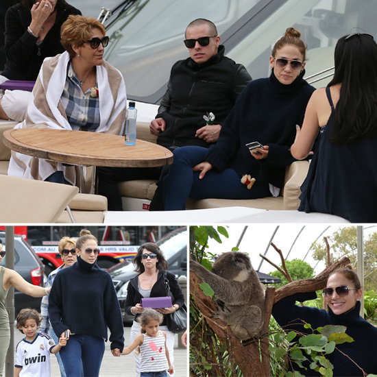 Jennifer Lopez Yachts With Her Family and Focuses on Fundraising