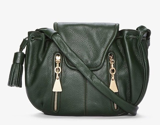 How amazing is the rich color on this See by Chloé dark green crossbody bag ($368, originally $525)? Throw it on over jeans or a dress for a pop of color and cute.