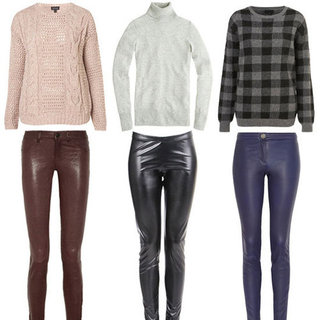 How to Wear Leather Pants With Sweaters