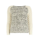 A marl-knit and two-tone contrast make Dorothy Perkins's ivory cable jumper ($55) the ultimate textural piece.