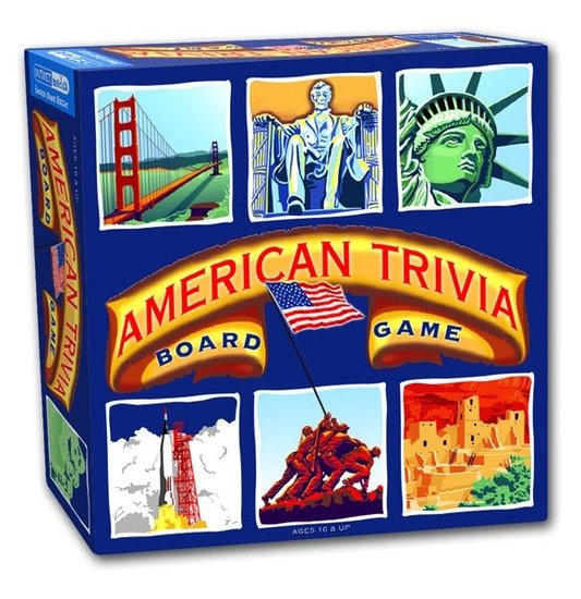 Your know-it-all pops will love playing the All American Trivia ($30) board game with the whole family.