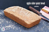 gluten-free apple cider quick bread loaf