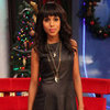 Kerry Washington Wearing Black Leather Dress