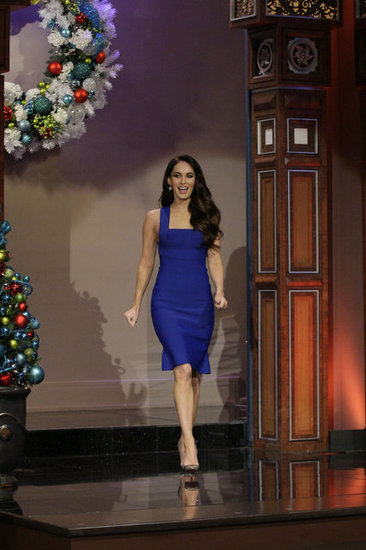Megan Fox arrived on the set of The Tonight Show With Jay Leno.
