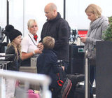 Gwyneth Paltrow and her kids, Apple Martin and Moses Martin, arrived in London together.