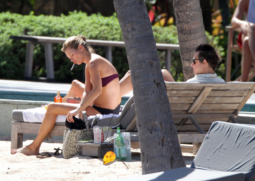 Kate Moss Flaunts Her Bikini, and Her Love For Jamie, in St. Barts