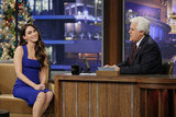 Megan Fox chatted with Jay Leno.