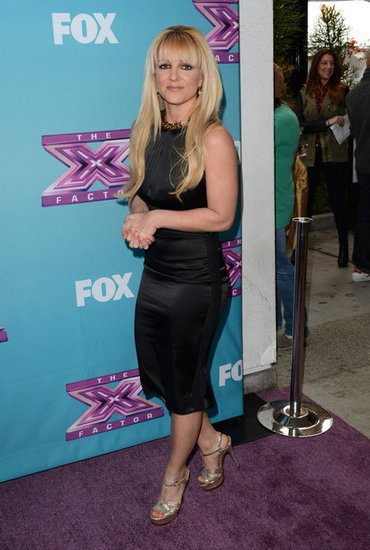 Britney Spears arrived at The X Factor press conference.
